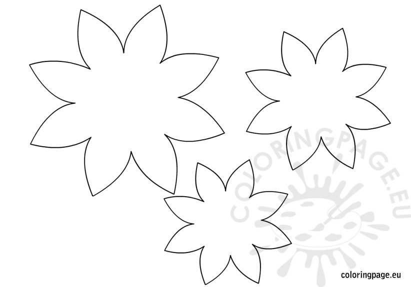 Flower Template Coloring Page