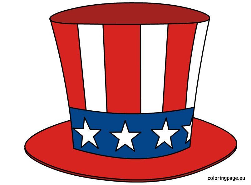 Uncle Sam Hat Coloring Page Coloring Pages