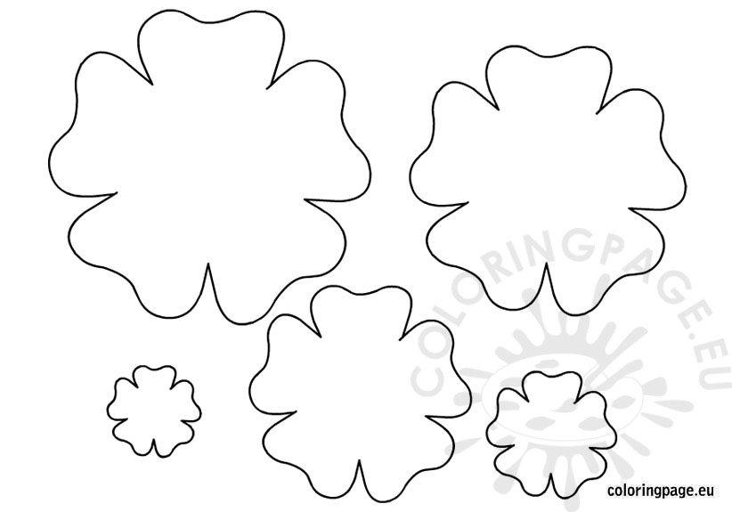 Flower template printable \u2013 Coloring Page