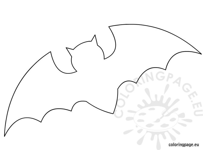 Bat Template for Halloween Coloring Page - bat template