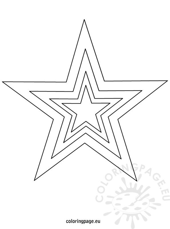 Star template printable Coloring Page - star template