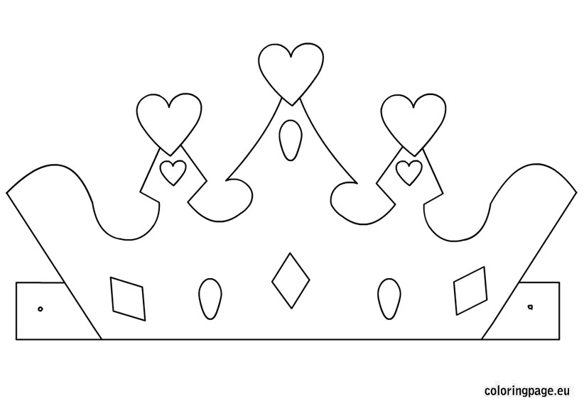Princess crown template Coloring Page - crown template
