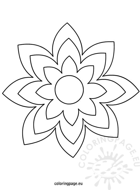 Large printable flower template Coloring Page - flower template