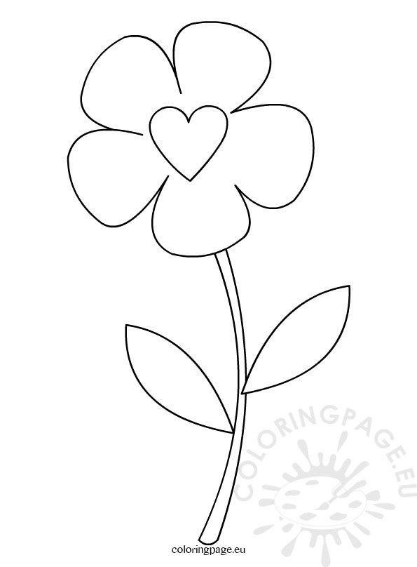Preschool Flower Template Coloring Page - flower template