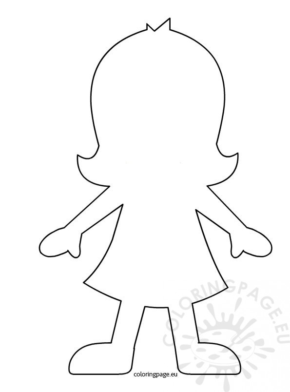 Girl Paper Doll Template Coloring Page - paper doll template