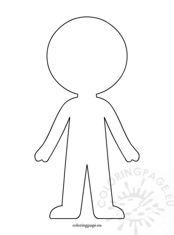 Boy paper doll template \u2013 Coloring Page