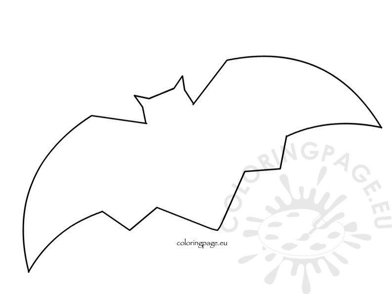 Free Bat Template Coloring Page - bat template