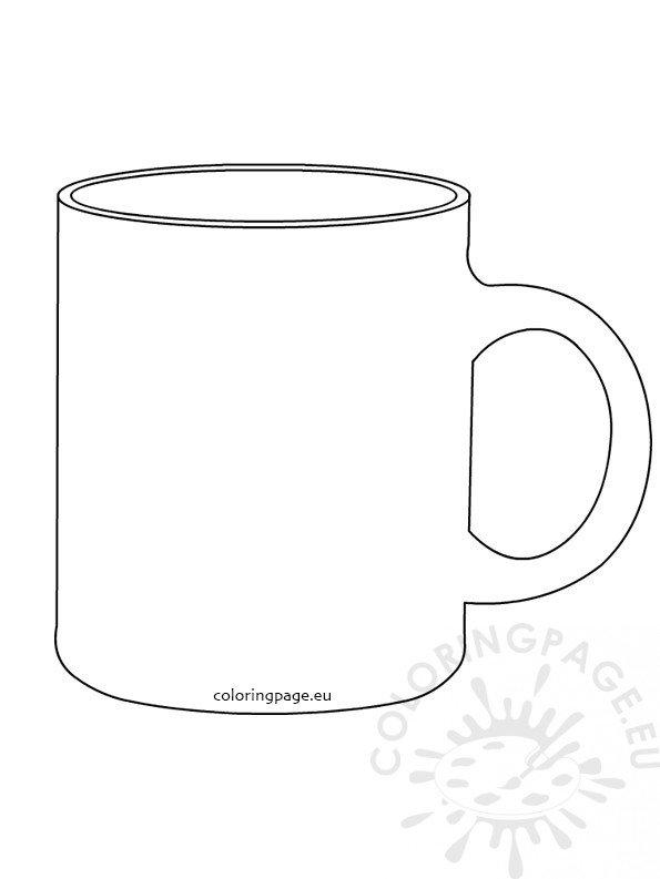 Coffee mug template Coloring Page