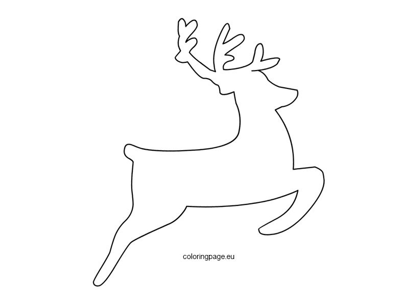 Flying Reindeer Template Coloring Page