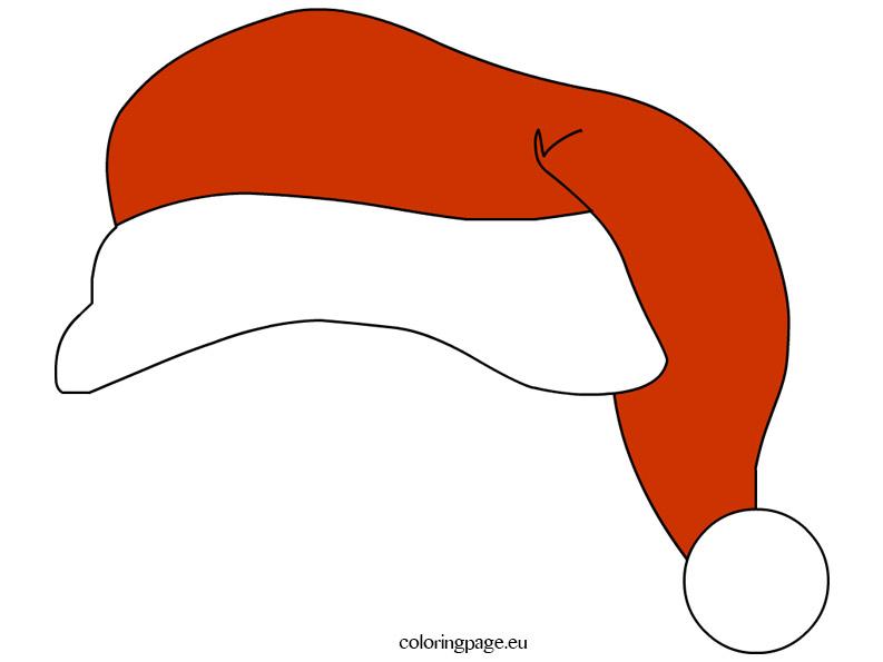 Free Printable Santa Hat \u2013 Coloring Page