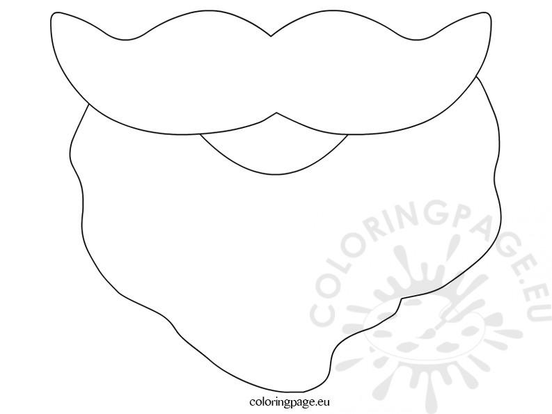 Santa Beard Template Printable \u2013 Coloring Page