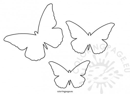 Butterflies - Coloring Page - butterfly template