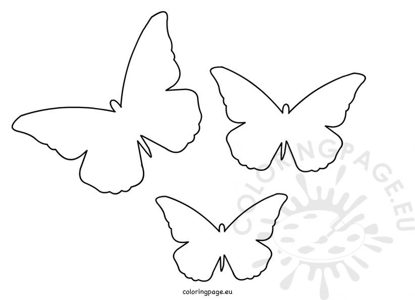 Butterfly Cut Out Template Coloring Page - butterfly template