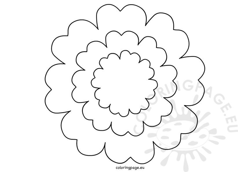 Printable Flower Petal Template Coloring Page - flower petal template