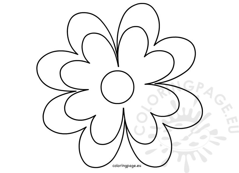Printable Flower template crafts Coloring Page - flower template