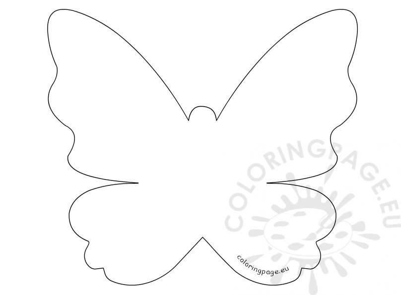 Motheru0027s Day Printable Butterfly Template Coloring Page - butterfly template