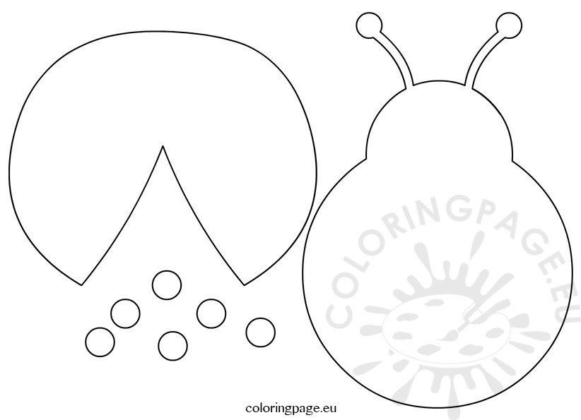 Ladybug template cut outs \u2013 Coloring Page