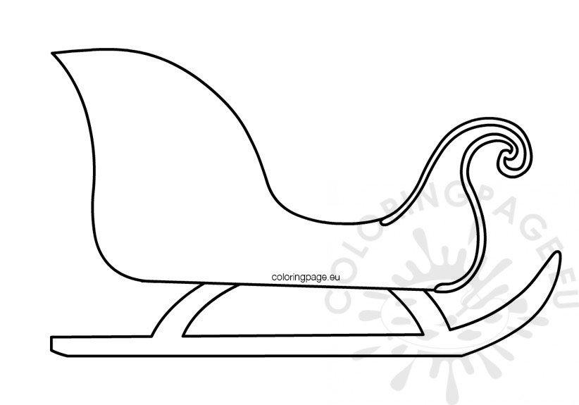 Christmas sleigh template printable \u2013 Coloring Page