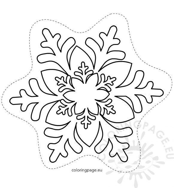 Free Printable Snowflake Template Coloring Page - snowflake template