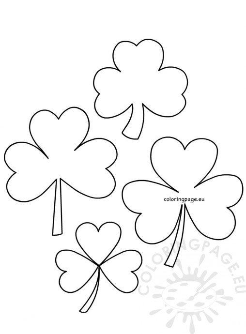 St Patricku0027s Day - Coloring Page - shamrock template