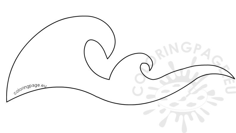 Ocean Waves Border Stencils Printable Coloring Page