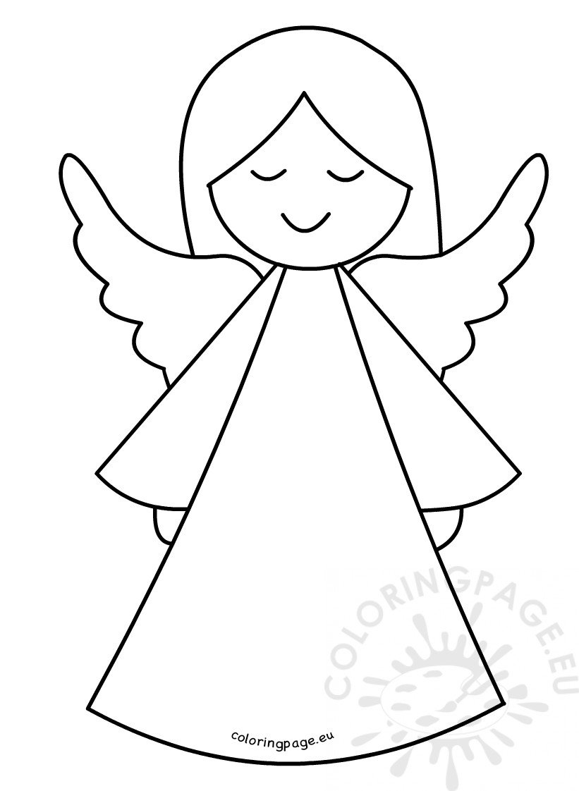 angel template to print
