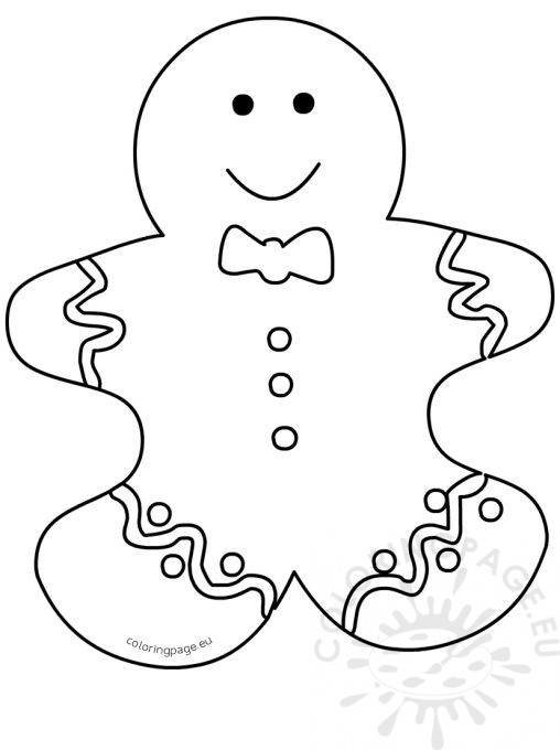 100+ Coloring Page Gingerbread Man Coloring Page Gingerbread Man - gingerbread man template