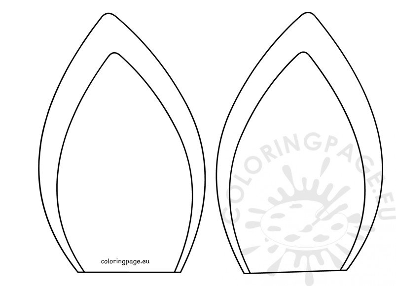 Unicorn ears template kid craft Coloring Page - unicorn template