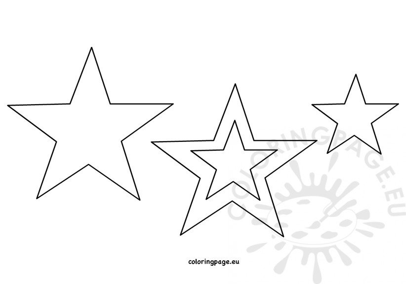 Printable star template Coloring Page - star template