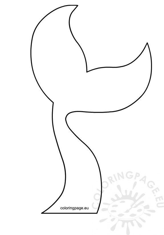 Mermaid Tail template printable \u2013 Coloring Page