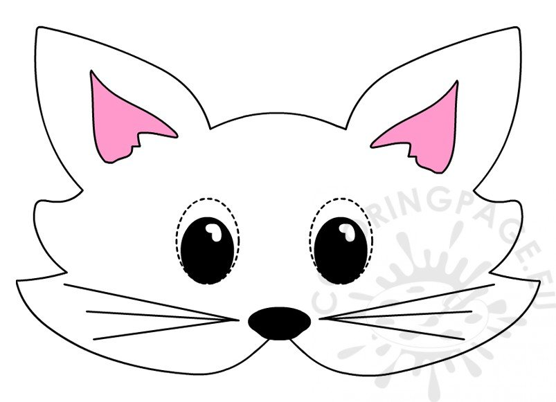 Cat mask template Printable animal masks \u2013 Coloring Page