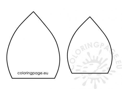 Unicorn ear template \u2013 Coloring Page