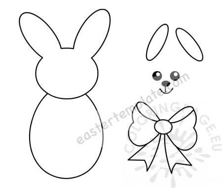 Easter Bunny Cut Out Template printable \u2013 Coloring Page