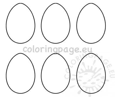Printable 6 Easter egg templates \u2013 Coloring Page
