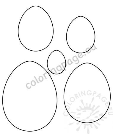 Easter egg templates printable \u2013 Coloring Page