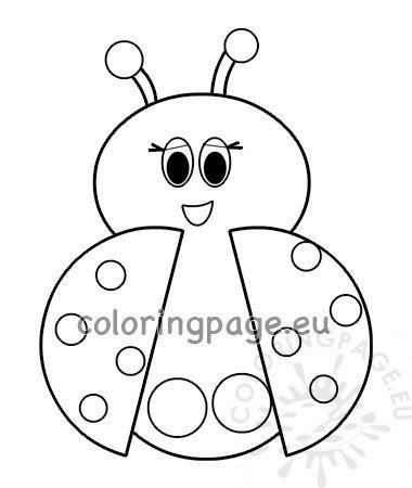 Ladybug Finger Puppet Template \u2013 Coloring Page