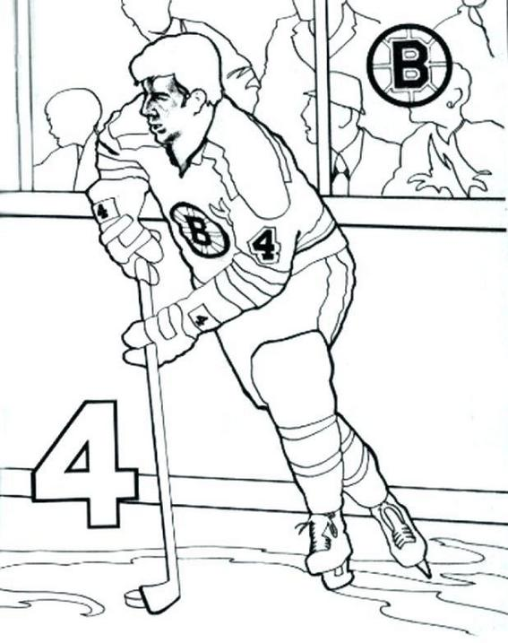 best hockey player coloring page