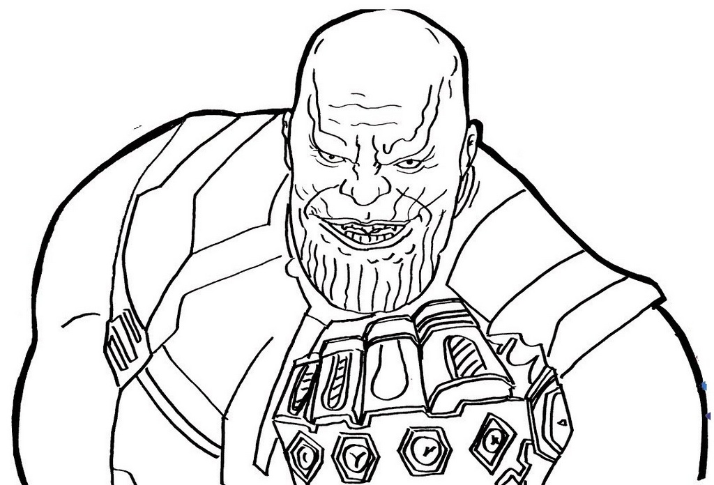infinity gauntlet and thanos coloring page