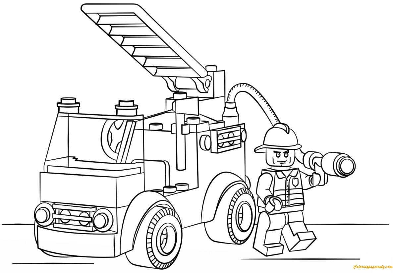 Disegno Di Camion Dei Pompieri Da Colorare Per Bambini