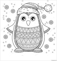 Merry Christmas Jolly Penguin Coloring Page - Free ...