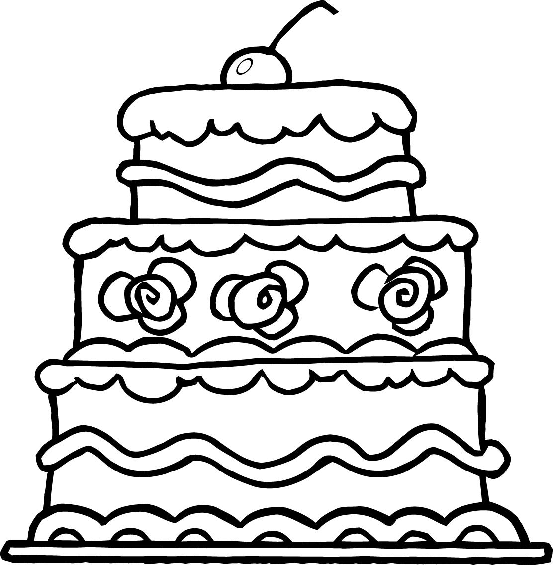Drawing Cake Colour Cake Coloring Pages To Download And Print For Free