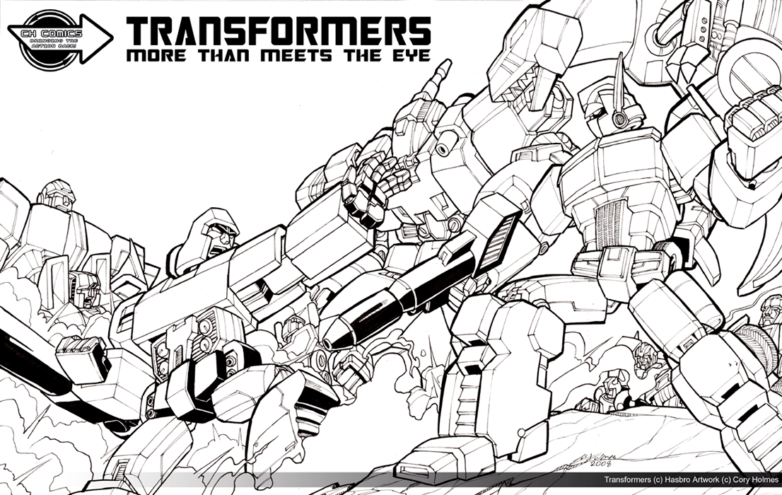 Transformers G1 Coloring Pages - Costumepartyrun