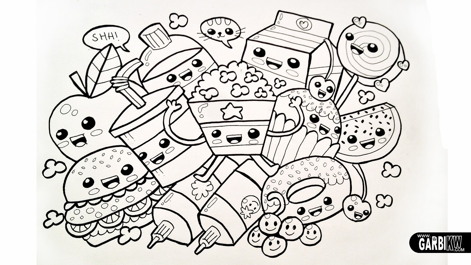 Kawaii coloring pages
