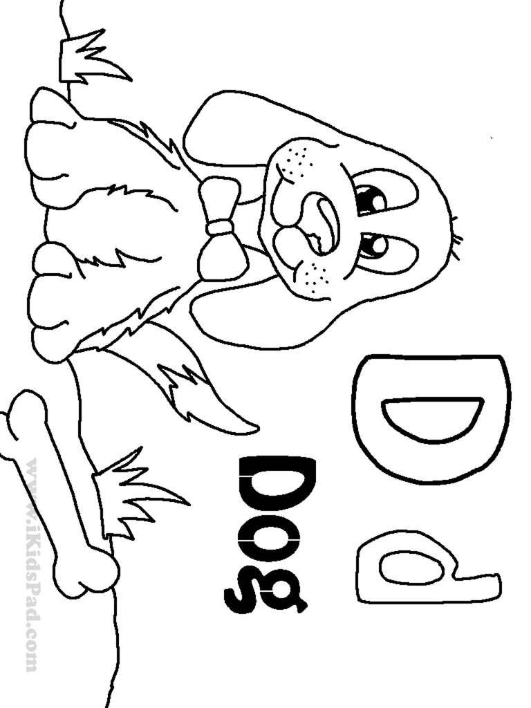 90 D Coloring Pages For Kindergarten