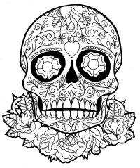 Dia de los muertos coloring pages to download and print ...