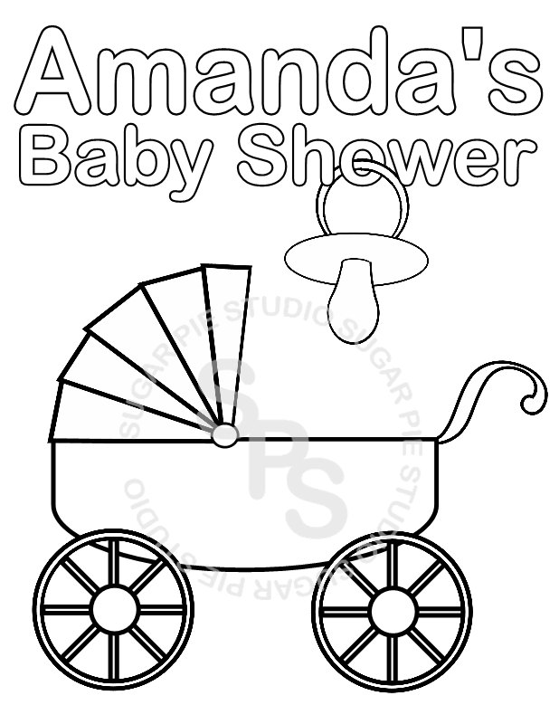 coloring pages for baby shower