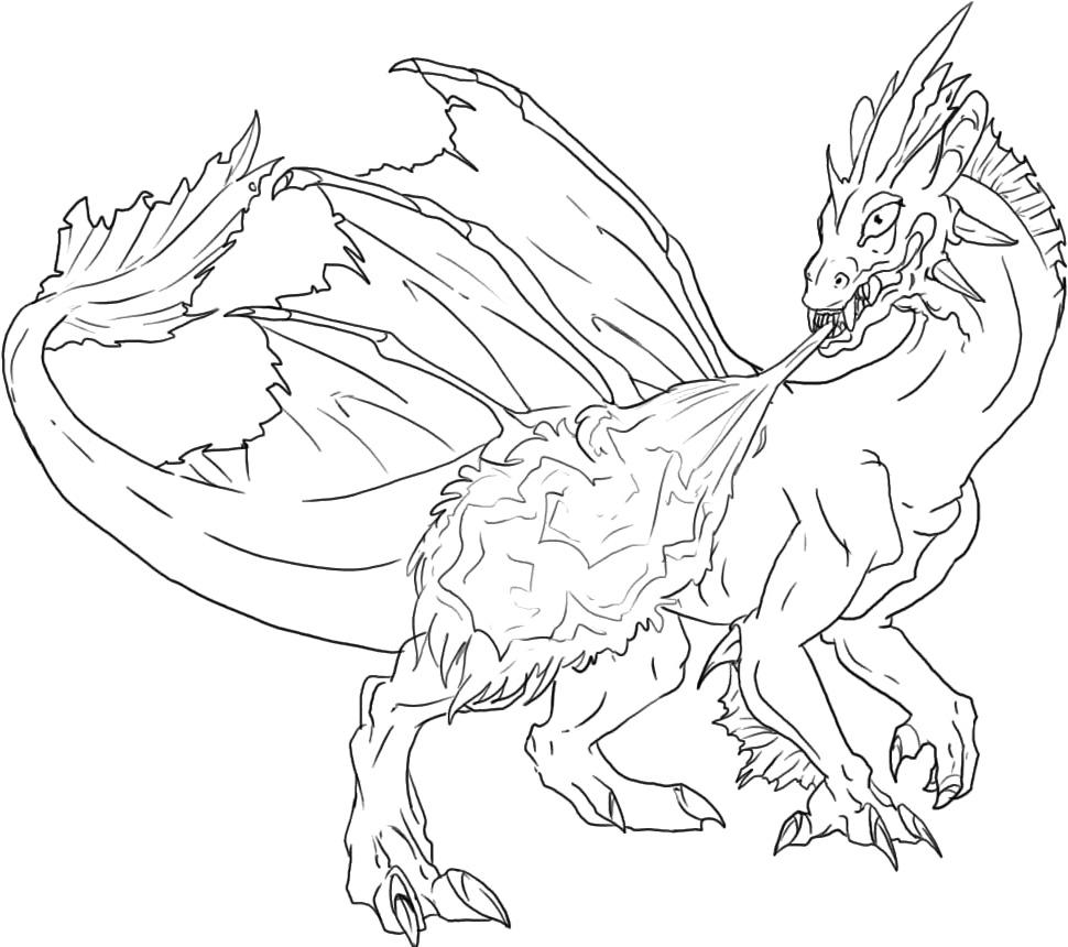 Dragon coloring pages online -  Dragon Coloring Pages Online Color Mean Chart Splash Download