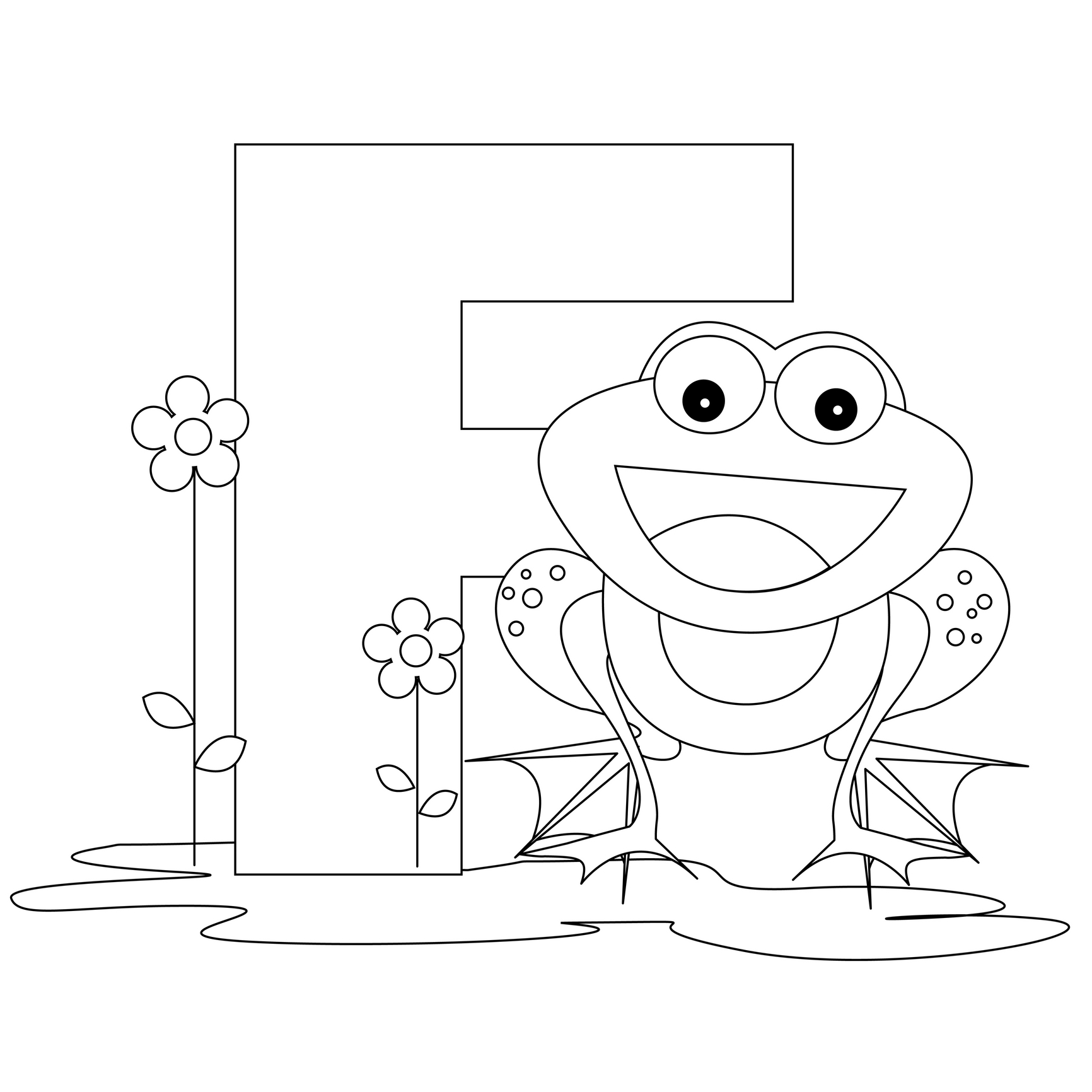 Free coloring page letter n - Fr Free Coloring Pages Letter F