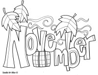 November Coloring Pages Autumn