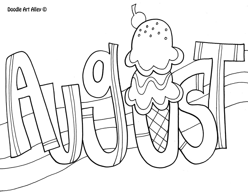 Free august coloring pages to print for kids download print and color